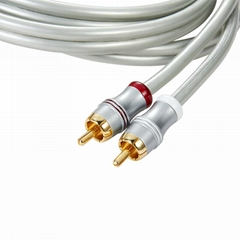 Promotional Gold Plated connector 2 RCA to 2 RCA Stereo Audio and Video cable