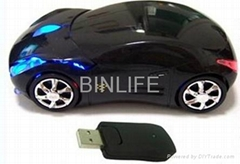 Latest wireless car shaped mouse 2.4G WIRELESS OPTICAL MOUSE