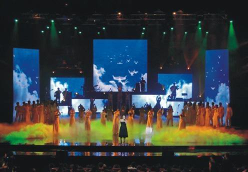 Mesh curtain led display 1