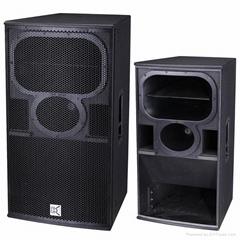 Three way bi-amp pa speaker digital video mixer