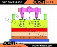 plastic flower pot injection mold with hot runner design