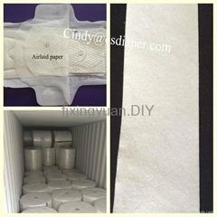 Airlaid paper with sap or without sap for sanitary napkins