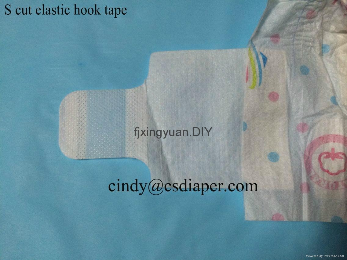 magic velcro side tape for baby diaper 5