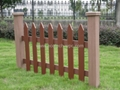 Eco-friendly wpc gardening fence