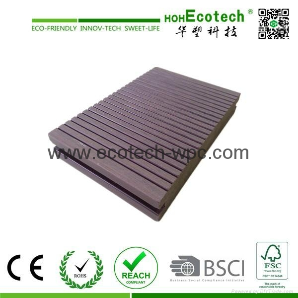 Non slip waterproof wood plastic composite dock decking for Non slip composite decking
