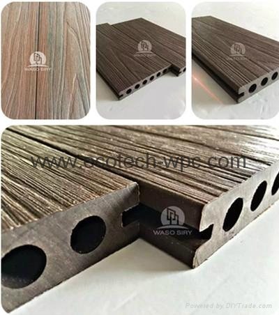 More Benefit Outdoor Widly Used Capped Wpc Decking  5