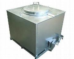 Variable frequency energy saving melting aluminium furnace