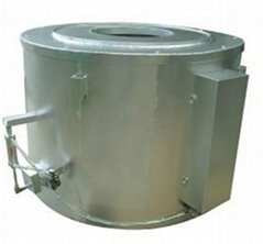 Fiber energy-saving melting aluminium furnace