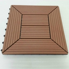 Easy Installation Interlocking Wood Plastic Composite Decking Tiles
