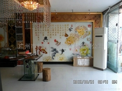 艺术玻璃背景墙