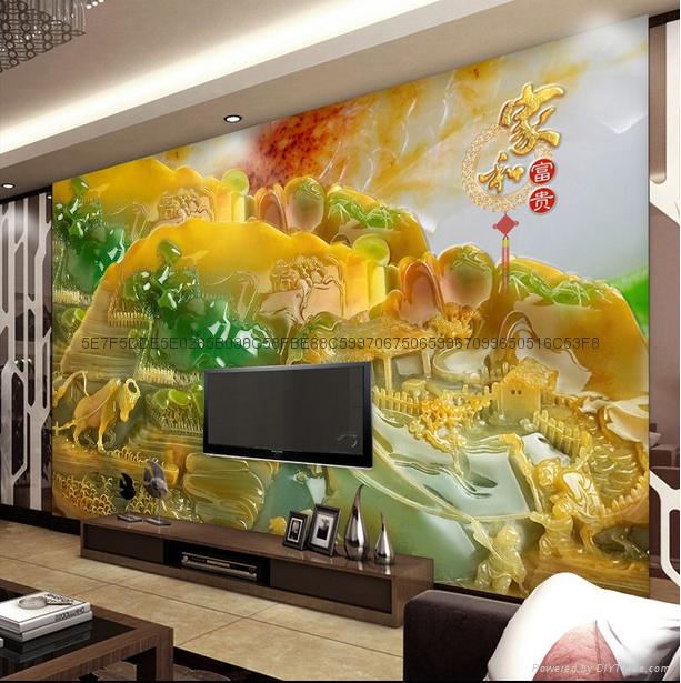 3D仿玉雕背景墙 4