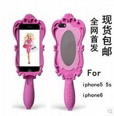 iphone 5/6/6P moschino barbie mirror silicon case