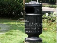 户外铸铝垃圾桶
