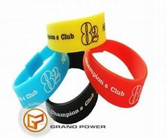 Custom Silicone Rubber Flap Bracelet