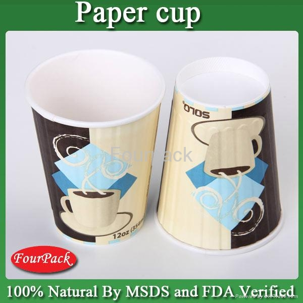 Hot coffee paper cup and suitable lids china supplier 4