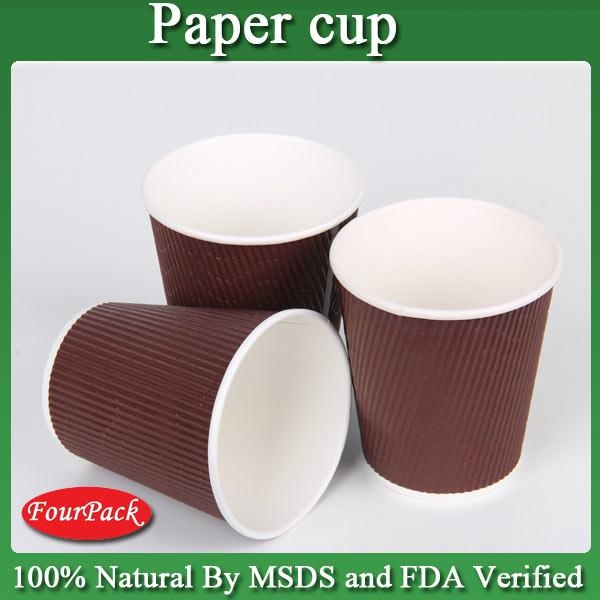 Size of corrugated printed diposable coffee hot paper cup 5