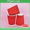 Size of corrugated printed diposable coffee hot paper cup 6