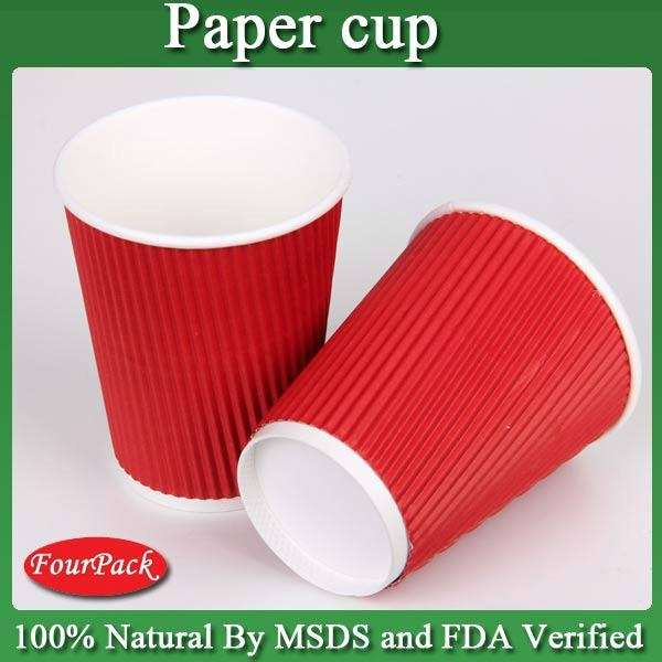 Size of corrugated printed diposable coffee hot paper cup 2