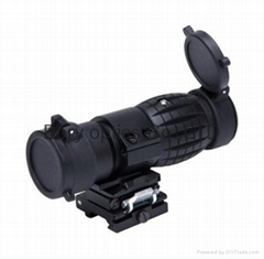 Hot Sale Tactical 3X-Fts Magnifier Scope Sight with Flip to Side Mount for 2