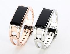 Nobel Metal D8 LED Display Smart Watch Bracelet Wrist Pedometer Remote