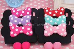 Silicone Mickey Mouse Bowknot Silicone Case for IPhone 5S