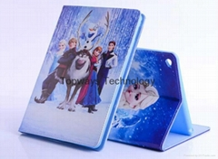 2014 Frozen Theme Leather Case for APPLE IPAD AIR 2