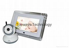 "7"" Wireless Digital Monitor 2.4GHZ Baby Monitor Video 2way Talk Night Version"