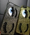 Glitter Cover Big Eyes Eyelashes Case for iphone 6 case And IPhone 6 plus 4