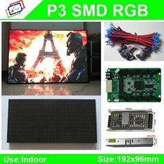 High-Definition P3 SMD indoor full color led display module / P3 RGB led panel /