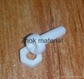 99%-99.5% M3 alumina ceramic screw 2