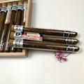 Borosilicate glass cigar bottle with cork