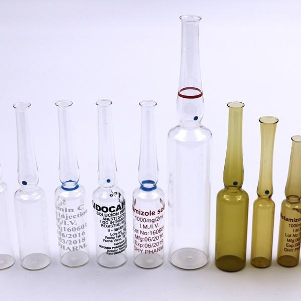 Neutral Borosilicate Type-I Tublar Clear Printing Glass Ampoule 5