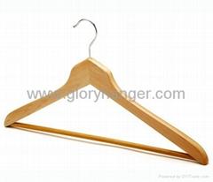 non slip rubber coated wooden hangers