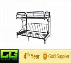 modern shaped metal bunk bed