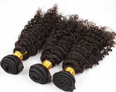 Deep Curly Virgin Remy Chinese Human Hair Extension