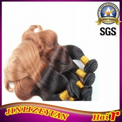 Two Tone Colored Ombre Human Hair Extension 100% Human Hair Weaving