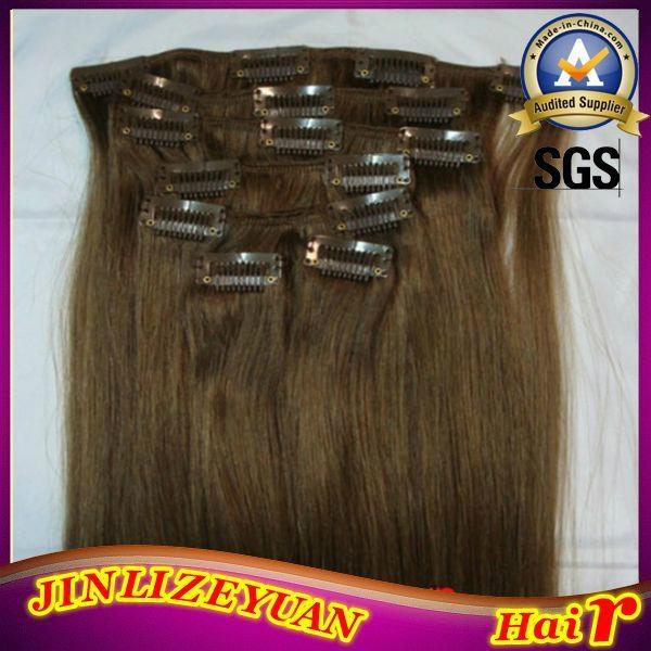 100% Human Hair Clip In Human Hair Extension 4