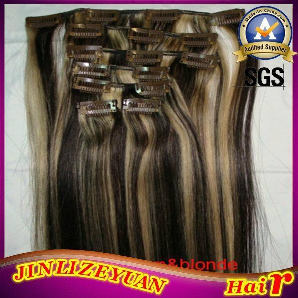 100% Human Hair Clip In Human Hair Extension 5