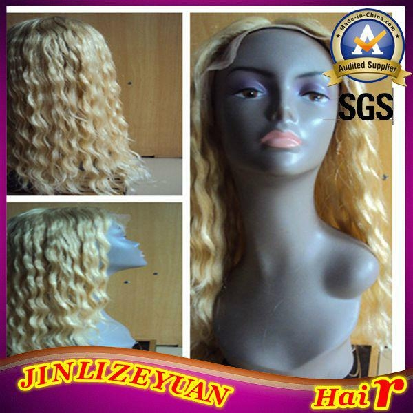 Blonde Human Hair Lace Front Wig 1