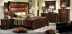 antique classic solid wood bedroom set