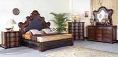 antique wood carving bedroom home furniture