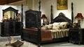 antique wood carving bedroom home furniture  3
