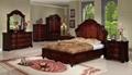 antique wood carving bedroom home furniture  2