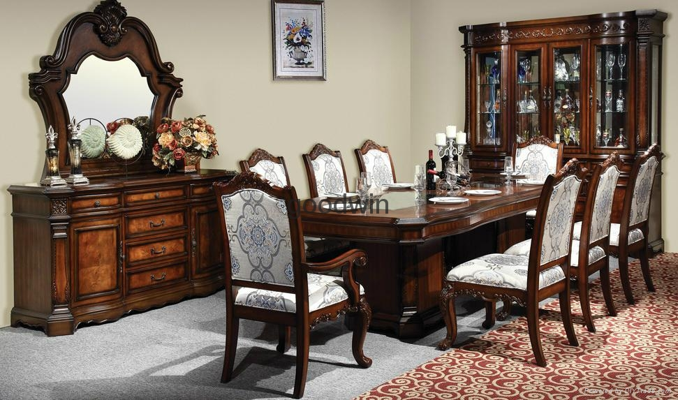 Best Classic Marble Top Wood Dining Table Wa140 China Room Sets With