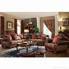 100% top grain geniune leather sofa set