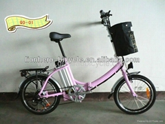 "20"" lithium battery folding electric bike"