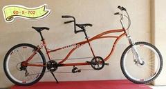 two seats Bike tandem Bicycle QD-X-702