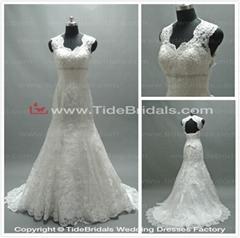 Popular Mermaid Bridal Dress Lace Keyhole Back Lace-up Bridal Gown Wedding Dress