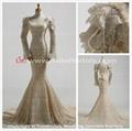 2014 Mermaid Long Sleeves Lace Wedding Gown Bridal Dress (11859) 1