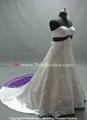Popular Satin Bridal Gown Embroidery Plus Size Wedding Dress (ZJH301) 3